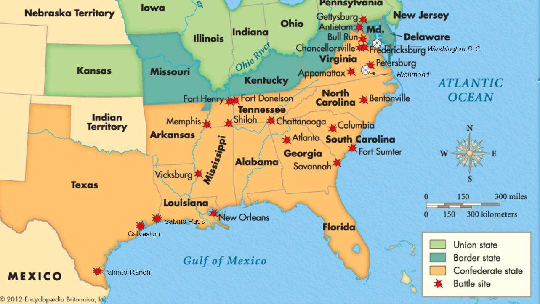 Civil War Map W Texas Battles Png