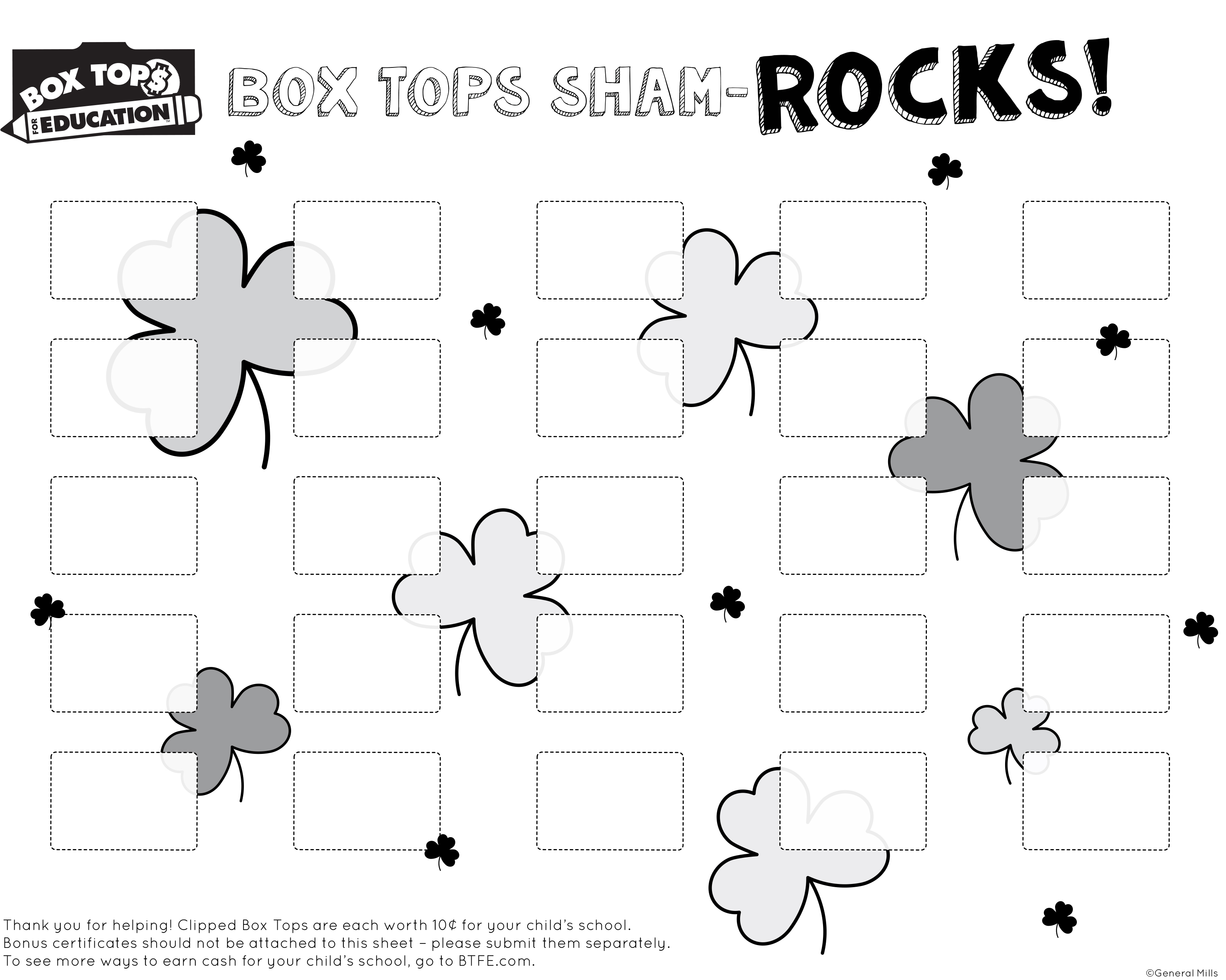 photo about Printable Box Tops Collection Sheets identify Box Tops 4 Schooling PTO Fort Sam Houston Essential College