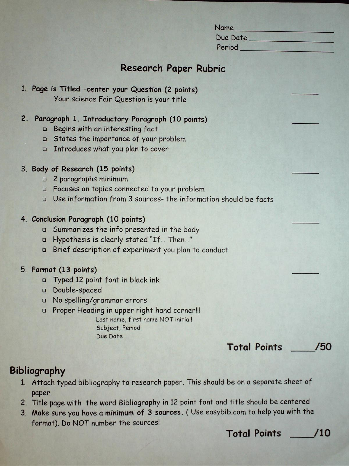 how to write an abstract for science fair