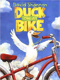 Image result for duck on a bike