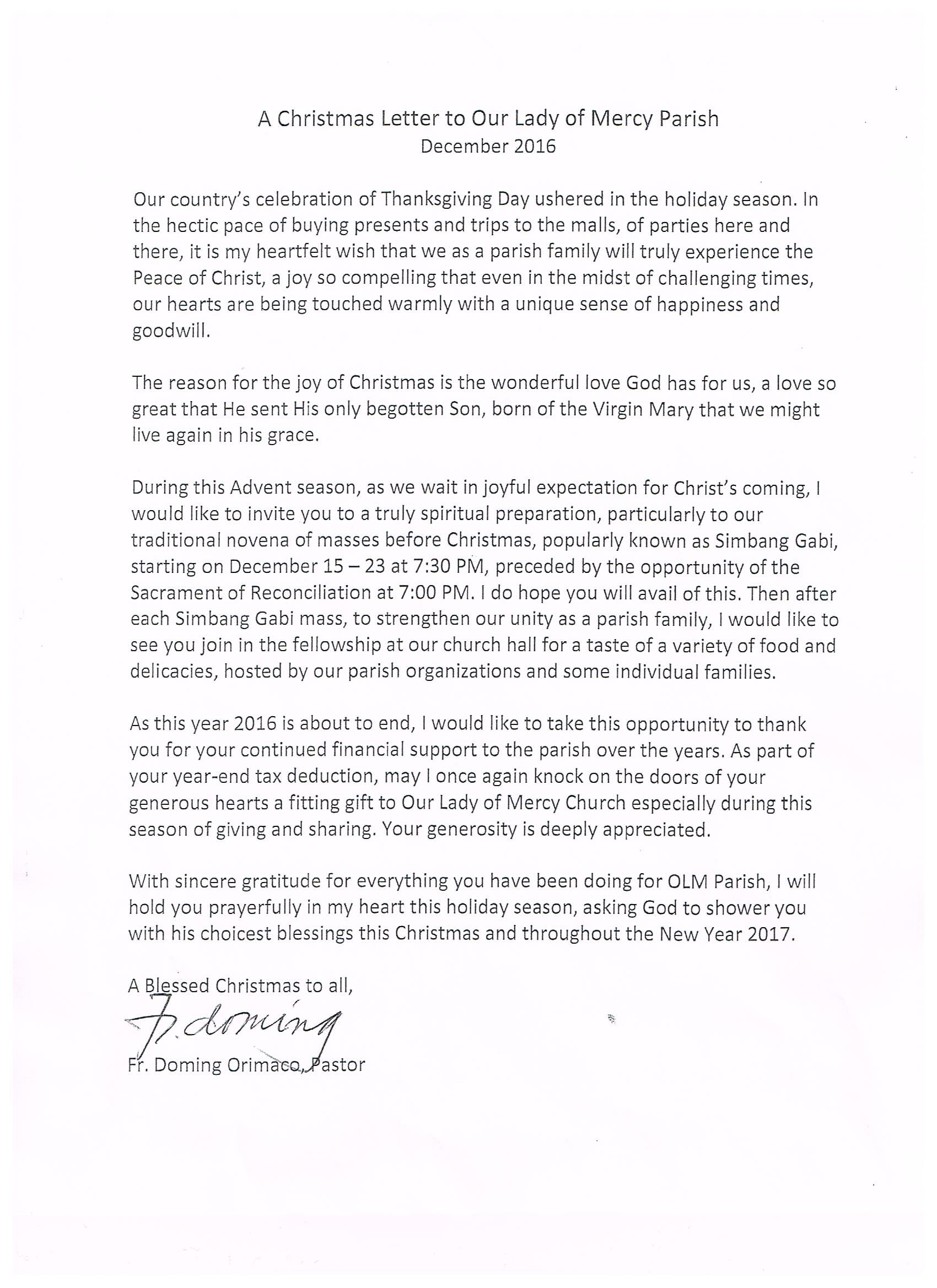 Thank You Letter To My Pastor Choice Image  Letter Format Formal Sample