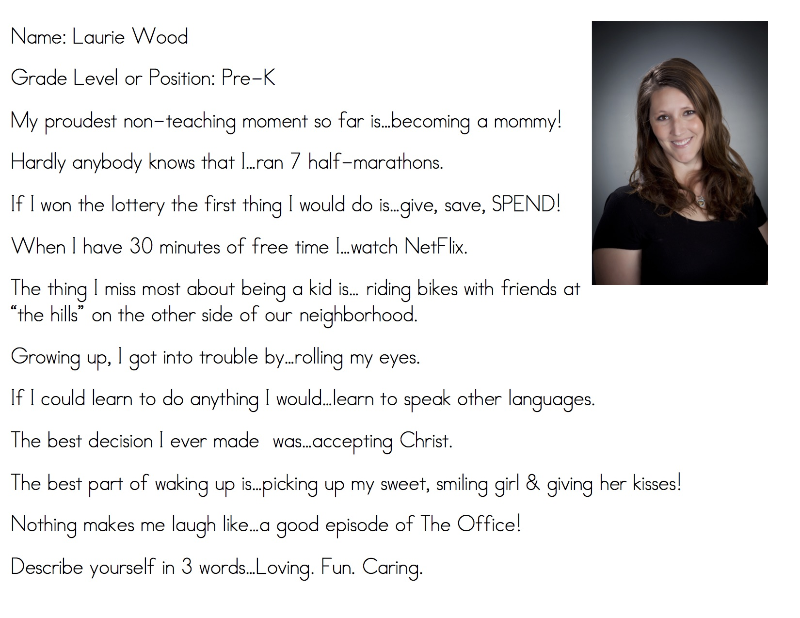 rivercrest elementary mrs wood is our pk 2 spotlight teacher