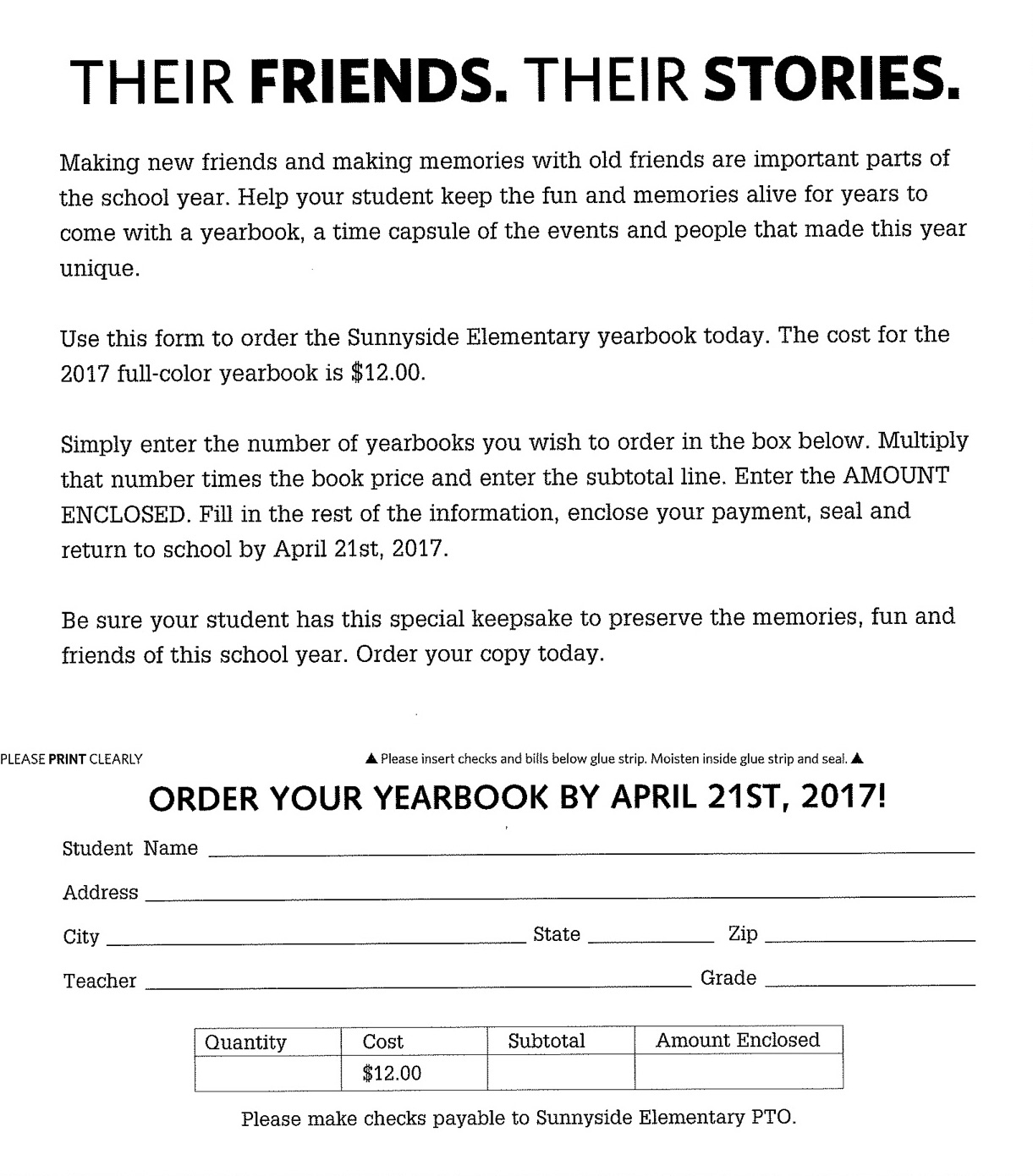 Photo clubyearbook club sunnyside clubs sunnyside elementary school yearbook order form 2017g thecheapjerseys Gallery