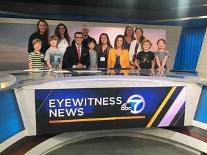 Kids and Parents on Set at ABC News