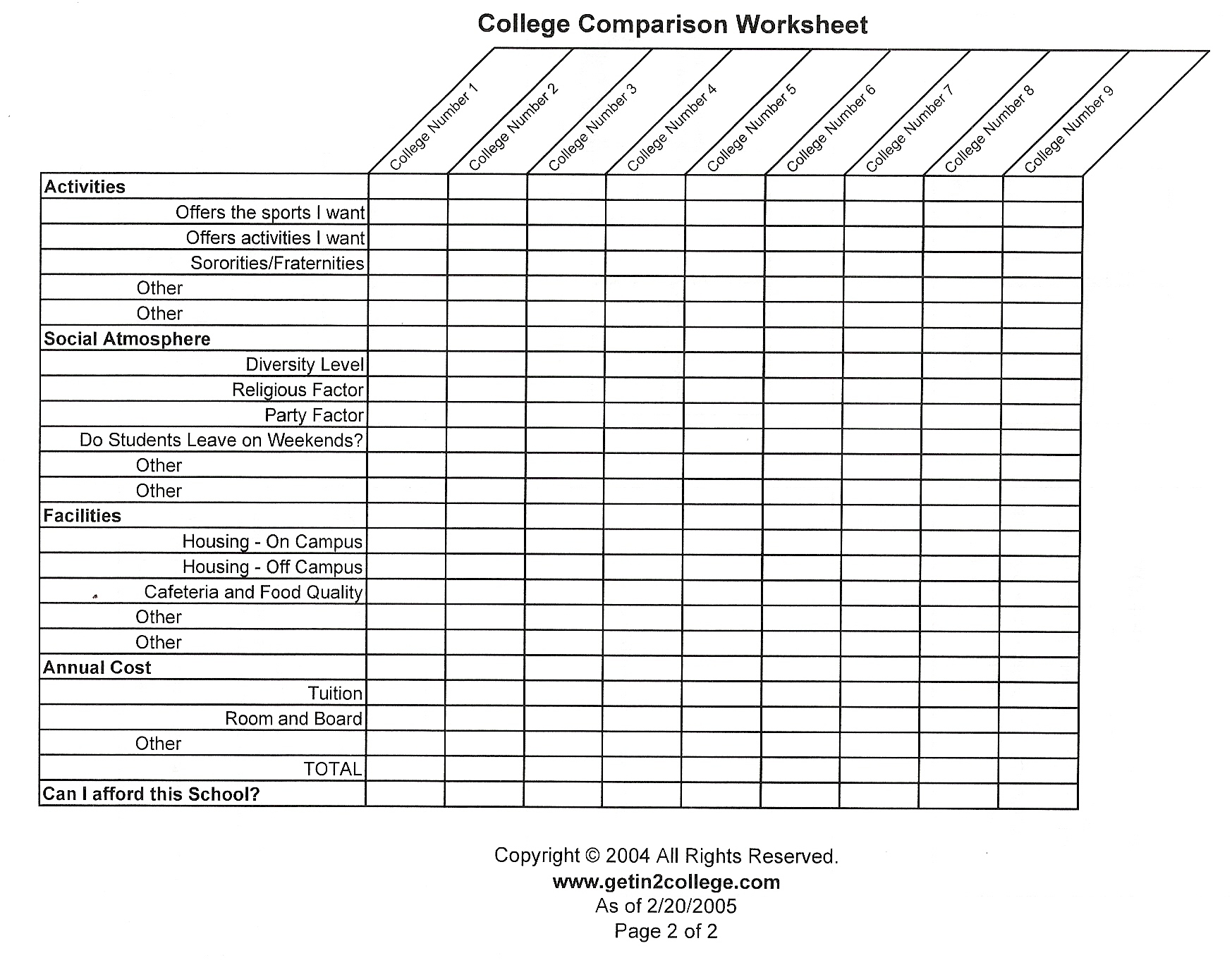 Worksheets College Cost Worksheet comparing colleges worksheet karibunicollies college cost worksheets newsofthewired thousands of