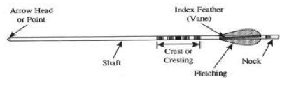 Picture of parts of an arrow.