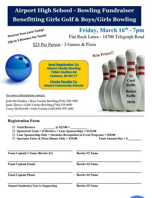 Golf and Bowling Fundraiser