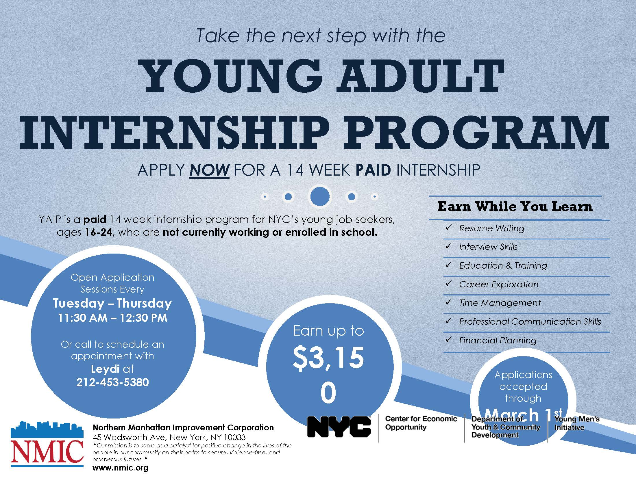 Northern Manhattan Improvement Corporation Internship Program For Young  Adults Learn About Interview Skills, How To
