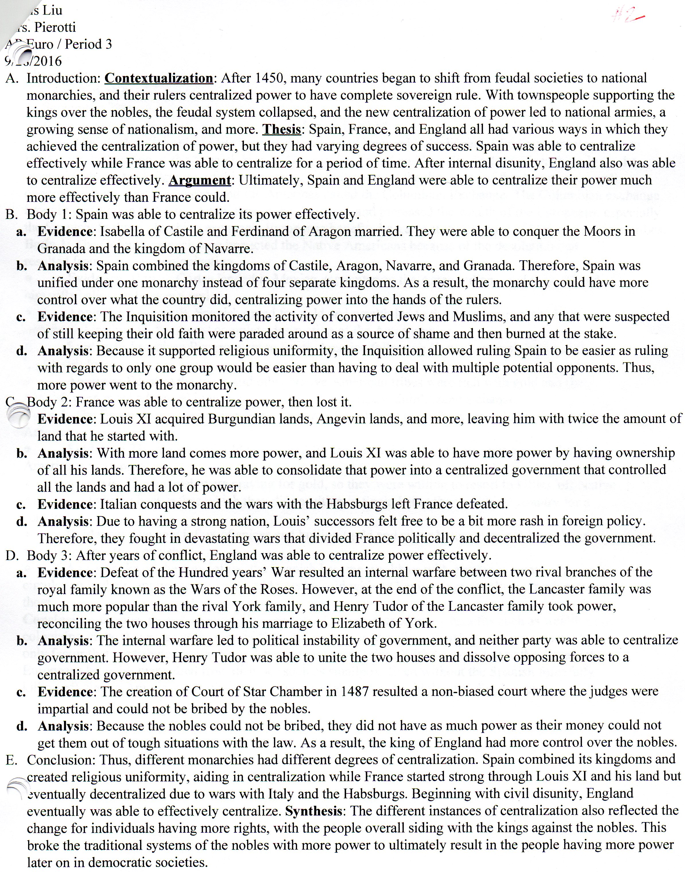 ap european history outline