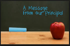Image result for a note from the principal