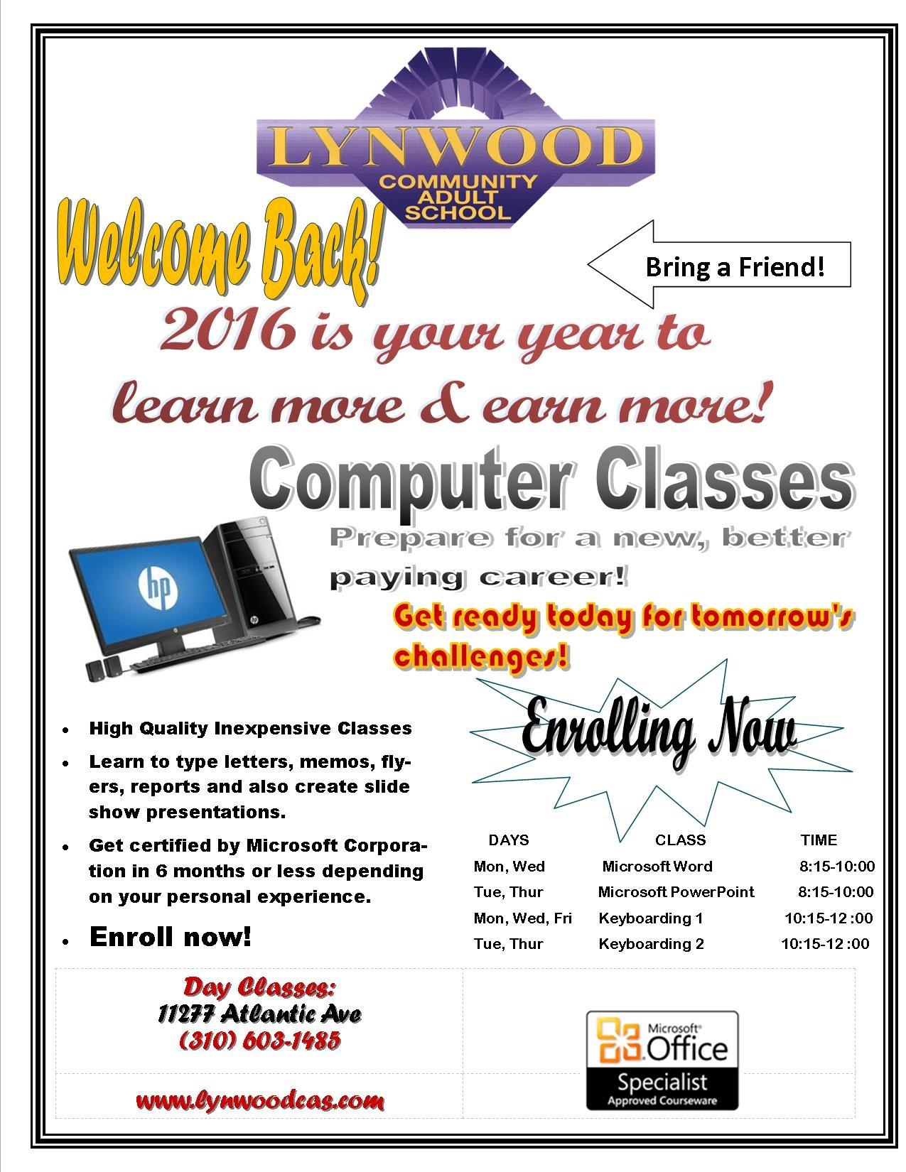 California Adult Education Courses